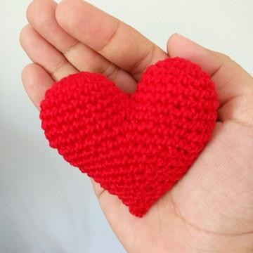 Coração Amigurumi - Crochê - FRETE FIXO R$10