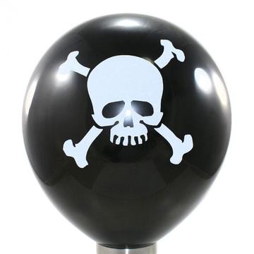 40 Unidades - Balão - Bexiga Caveira Halloween