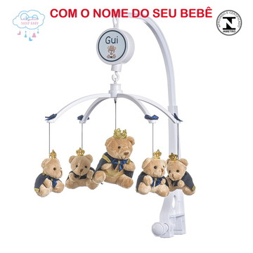 Móbile de berço Musical Ursinho Príncipe Caramelo Menino