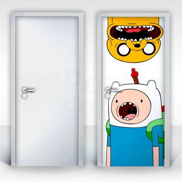 Adesivo para Porta – Finn e Jake-03