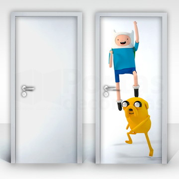 Adesivo para Porta – Finn e Jake-04