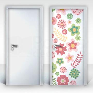 Adesivo para Porta – Flores-01