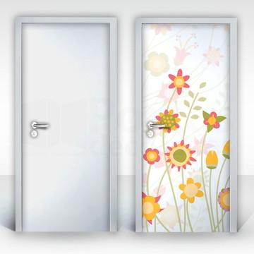 Adesivo para Porta – Flores-02
