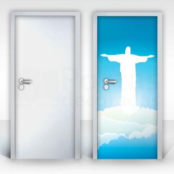 Adesivo para Porta – Nuvens Cristo Redentor