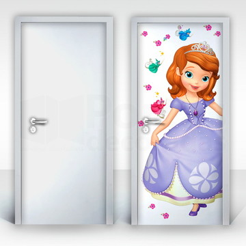 Adesivo para Porta – Princesa Sofia-02