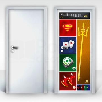 Adesivo para Porta – Super Heroes