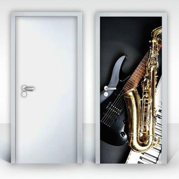 Adesivo para Porta – Instrumentos Musicais