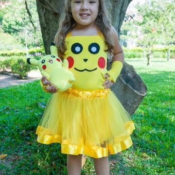 Fantasia Pikachu 6 e 8 anos