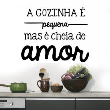 Adesivo de Parede - Cozinha é Amor