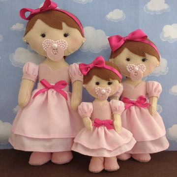 Trio de bonecas para nicho
