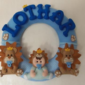 Guirlanda Porta Maternidade Leãzinho
