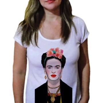 Camiseta Feminina Frida Kahlo romântica - 21 Camiseteria