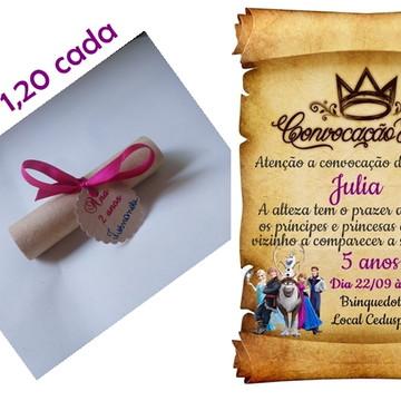 Convite Pergaminho Frozen