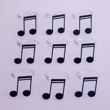 Porta-guardanapo - notas musicais