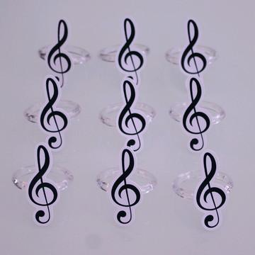 Porta-guardanapo - notas musicais - clave de sol