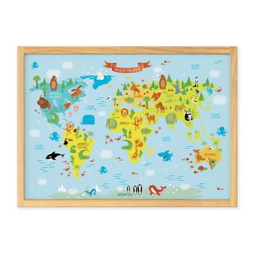 Mapa-múndi Infantil