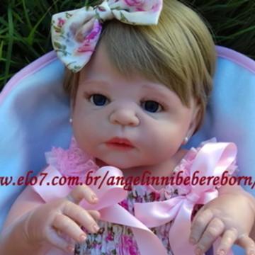 Bebê Reborn Elisa - Pronta entrega! olhos azuis