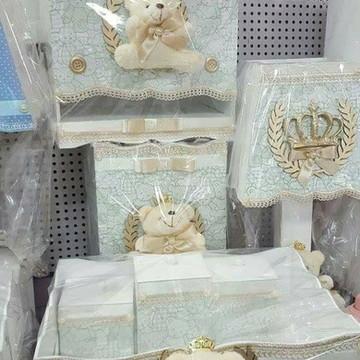 kit higiene tecido ursinho