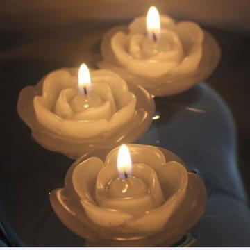 Velas Decorativas Flutuantes Rosa