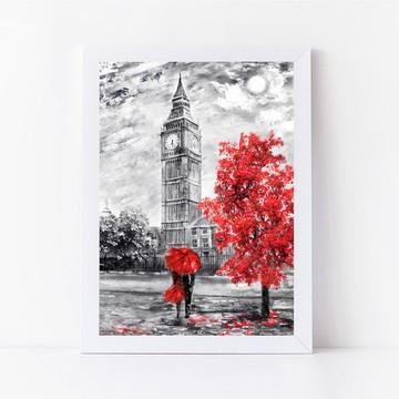 Poster com Moldura Londres - Big Ben