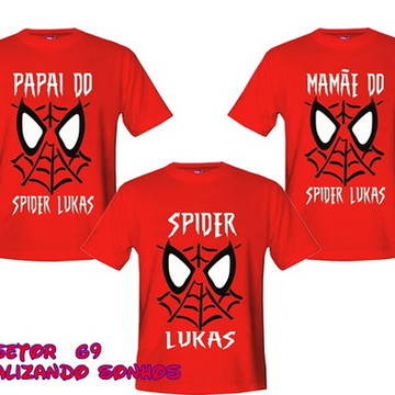 kit camiseta aniversario spider
