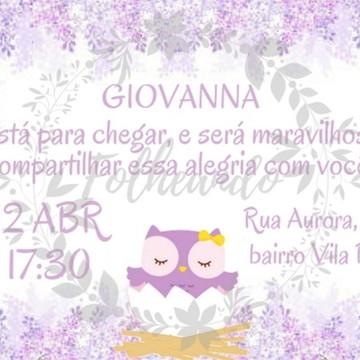 Convite Digital Chá de Bebê Corujinha