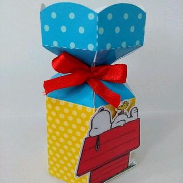 Meia caixa bala hexagonal Snoopy