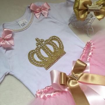 Vestido do tema coroa ou realeza