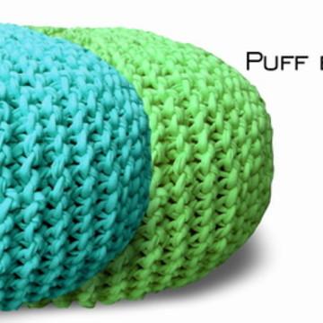 Puff Maxi Tricot Pequeno - diversas cores