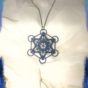Medalhão Cubo de Metatron
