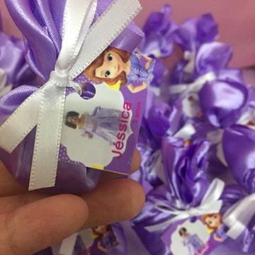 Lembrança Princesa Sofia sache perfumado