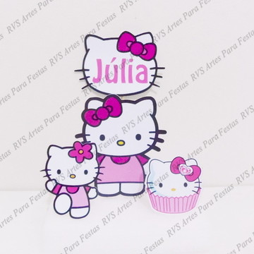 Hello Kitty - Topo de bolo