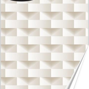 Papel de Parede Adesivo 3D Tons de Bege
