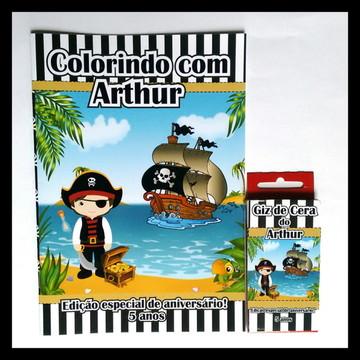 Kit de Colorir com Giz de Cera Pirata