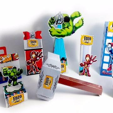 Kit Digital Arquivo de Corte Silhouette Vingadores 13