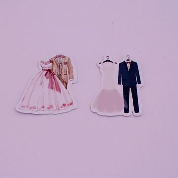 Aplique/adesivo/tag - roupas de noivos