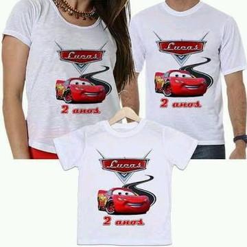 Camisetas carros pai mae filho