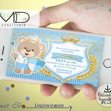 Convite Digital Urso Principe