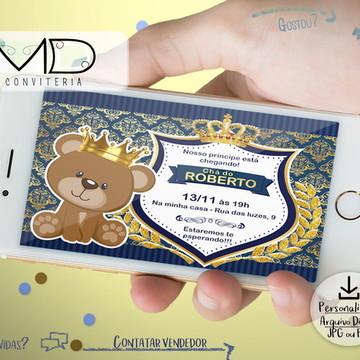 Convite Digital Ursinho Principe
