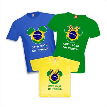 5f0d7f4a8 Kit Camisetas de Aniversario Copa do Mundo Brasil