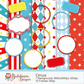 Kit Digital Scrapbook Circus