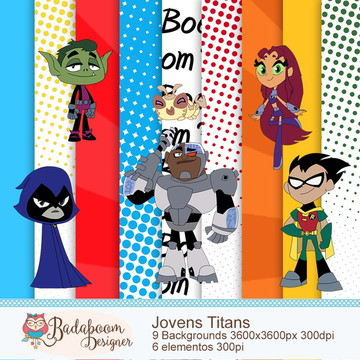 Kit Digital Scrapbook Jovens Titans