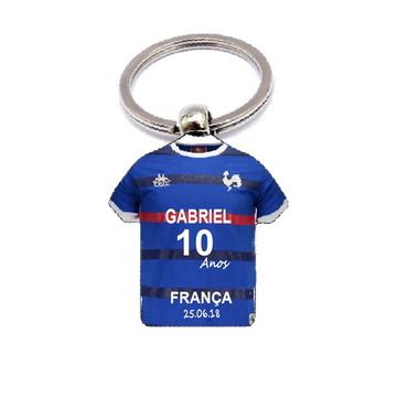 Chaveiro Camisa Copa do Mundo França