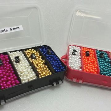 2.200 pérolas 6 mm em 10 cores + 2 CAIXAS ORGANIZADORAS -