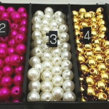 500 und perolas 8 mm + 1 caixa organizadora - COR A ESCOLHER