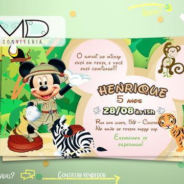 Convites Personalizados Mickey Safari