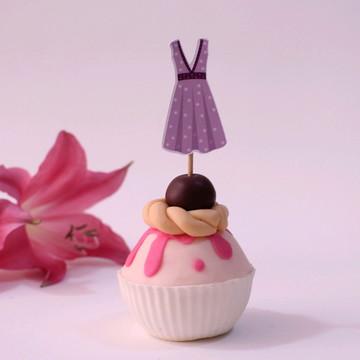 Topper para doces - moda - vestido
