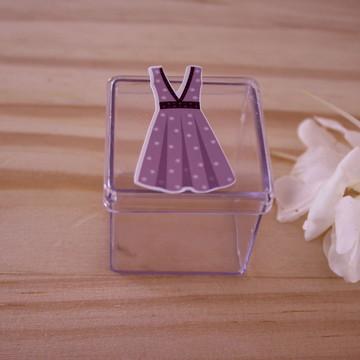 Caixinha de acrílico - moda - vestido