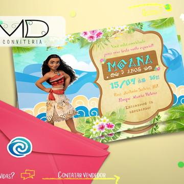 Convites Personalizados Moana