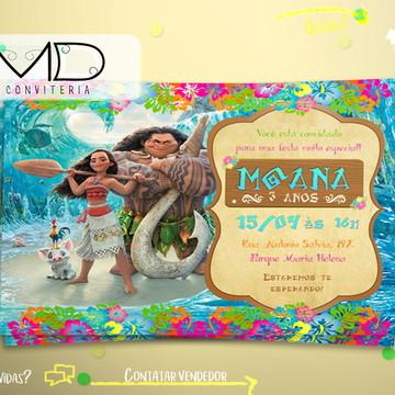 Convites Moana Personalizados